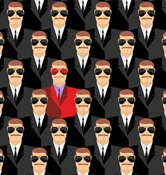 Secret agents A spy among agents Seamless pattern vector image