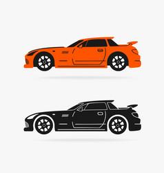 Sports car symbol vector