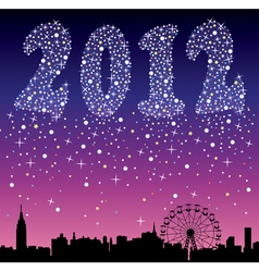 2012 urban holiday background vector image