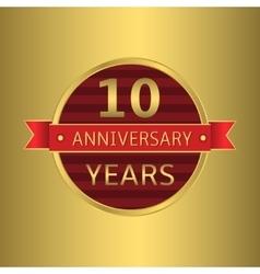 Anniversary 10 years vector image vector image