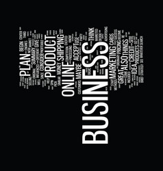 Every business needs a plan text background word vector