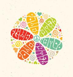 flower power creative hippie vector image