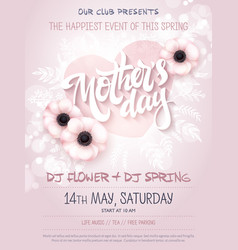 hand drawn mothers day event poster with vector image