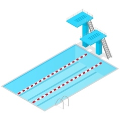 Swimming Pool Isometric View Indoors vector image