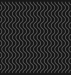 vertical thin wavy lines seamless pattern dark vector image vector image