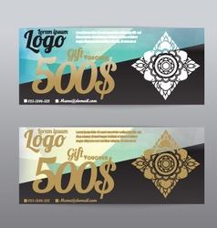 Voucher template modern pattern Thai polygon backg vector image