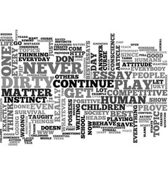 why do we play dirty text word cloud concept vector image vector image