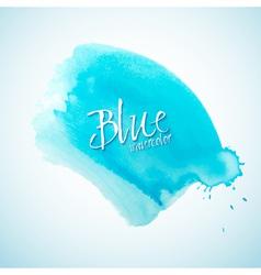 Blue watercolor splash design element vector image vector image