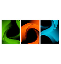 colorful backgrounds set vector image