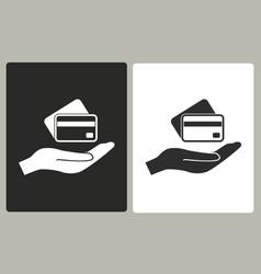 credit card - icon vector image vector image