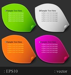 leaf paper color vector image