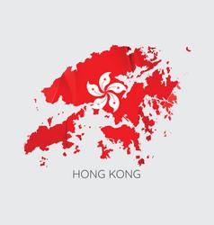 map of hong kong vector image