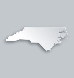 Map of North Carolina vector image vector image