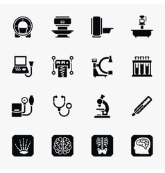 Medical diagnostic icons set vector image vector image