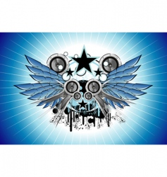 sound and music frame vector image vector image