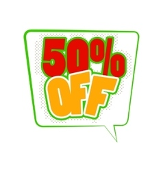50 percent off comics icon vector image