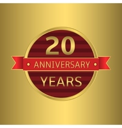 Anniversary 20 years vector image