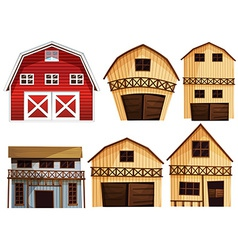 Barns set vector image vector image
