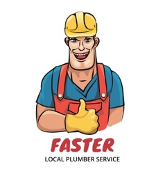 Plumber service vector image