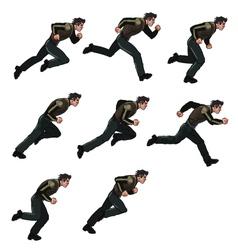 Running Man Sprite vector image vector image