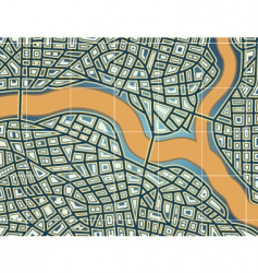 streets and river vector image vector image