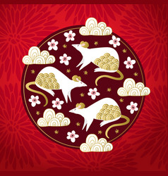 2020 chinese new year greeting card invitation vector image
