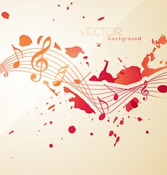 abstract style music notes vector image