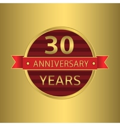 Anniversary 30 years vector image