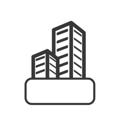 Apartment icon building design graphic vector