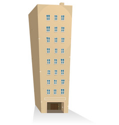 apartments building vector image