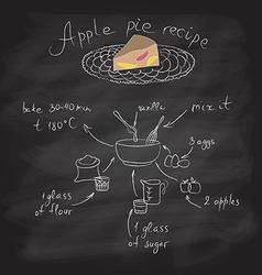 Apple pie with recipe vector