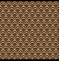 art deco black and gold geometric style pattern vector image
