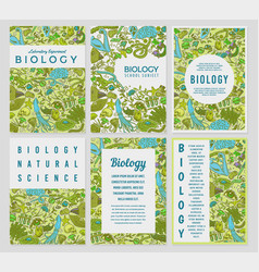 biology cards science templates and banners vector image