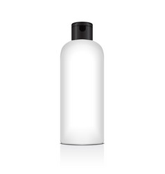 Blank plastic bottle for shampoo lotion vector