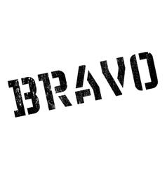 Bravo rubber stamp vector