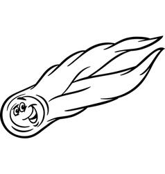 Cartoon comet coloring page vector