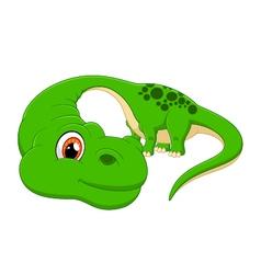 Cartoon cute Diplodocus vector