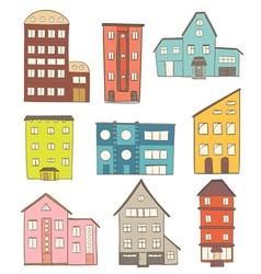Cartoon houses vector