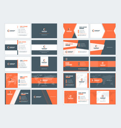 Collection double-sided business card vector