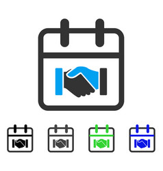 Contract day flat icon vector