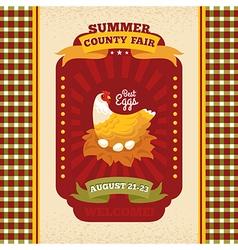 County fair vintage invitation card vector image