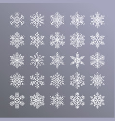 cute snowflakes collection isolated on gradient vector image