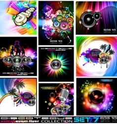 Disco flyers vector