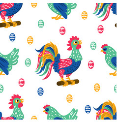 easter fabric holiday bird seamless pattern vector image
