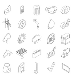 Ecology set icons vector image