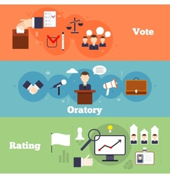 Elections banner set vector image