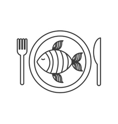 Fish dish restaurant menu vector