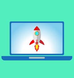 Flat style rocket vector