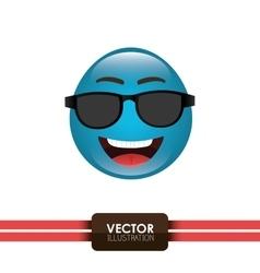 Funny emoticon design vector