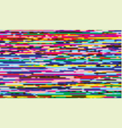 Glitch texture colorful wide screen background vector